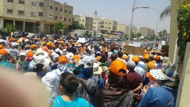 """وقفة احتجاجية حاشدة لنقابة """"دحمان"""" أمام مقر أكاديمية فاس- مكناس"""