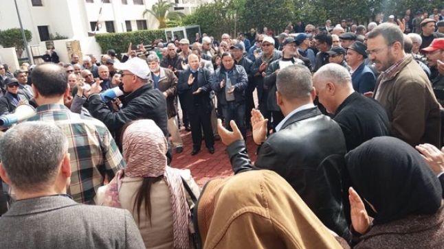 سيدي قاسم : هيئة الادارة التربوية تنظم وقفتها الاحتجاجية أمام أكاديمية جهة الرباط سلا القنيطرة
