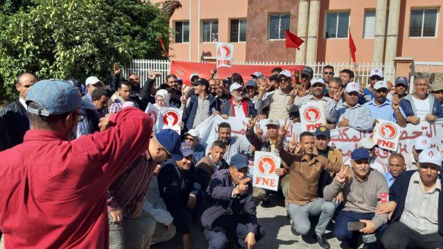 FNE بجهة الرباط تعليق وقفة احتجاجية واعتصام بعد الحوار وتحقيق جزء من المطالب