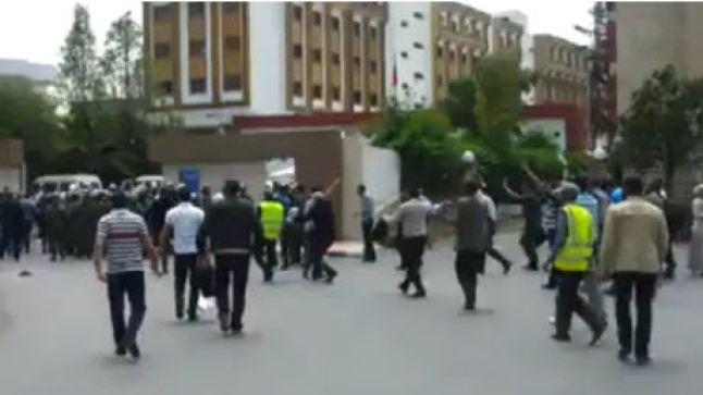 بيان احتجاجي حول الاعتداء على الأستذة المجازين