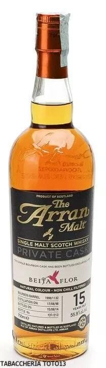 WHISKY THE ARRAN BOURBON BARREL PRIVATE CASK BEIJA FLOR 15 Years Old