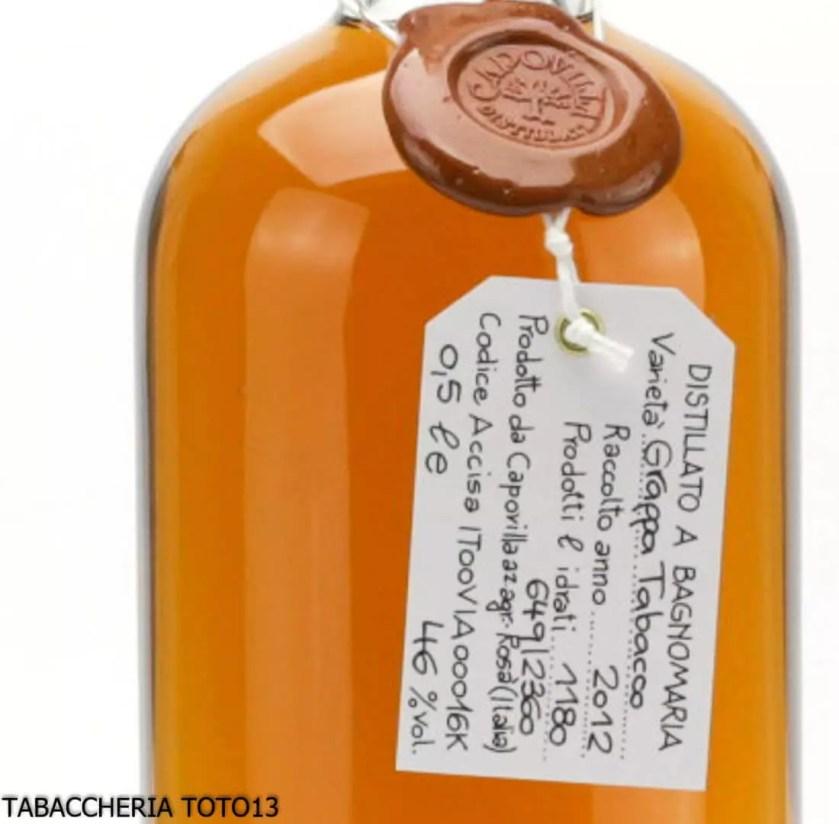 Etichetta grappa Tabacco Capovilla
