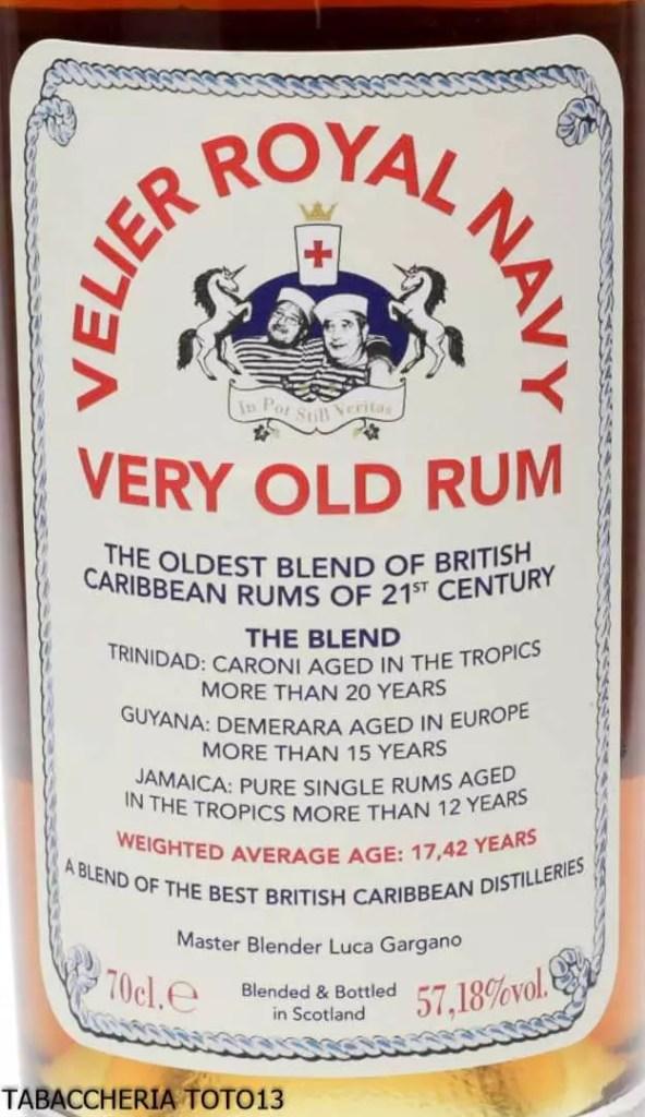 Rum Velier Royal Navy