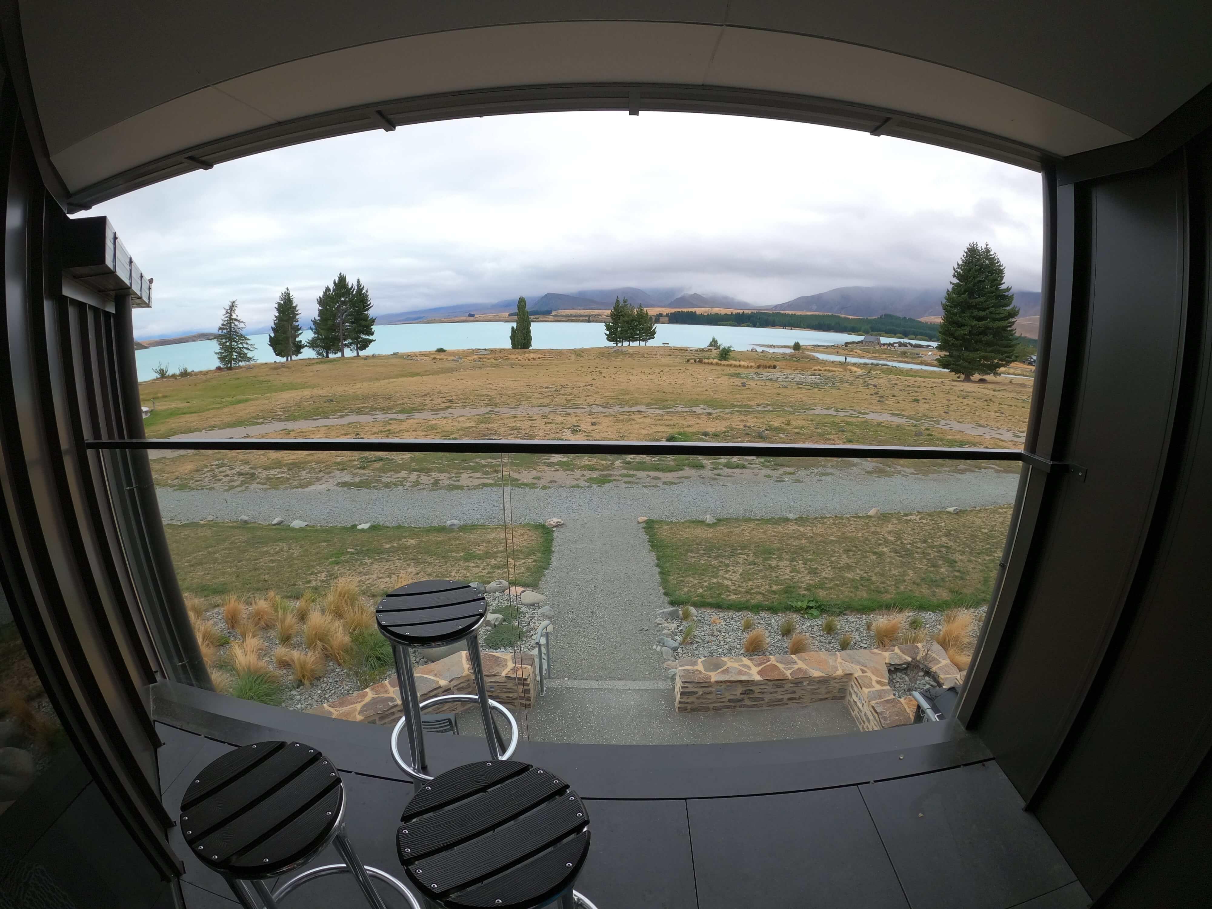YHA Lake Tekapo 右側のバルコニー