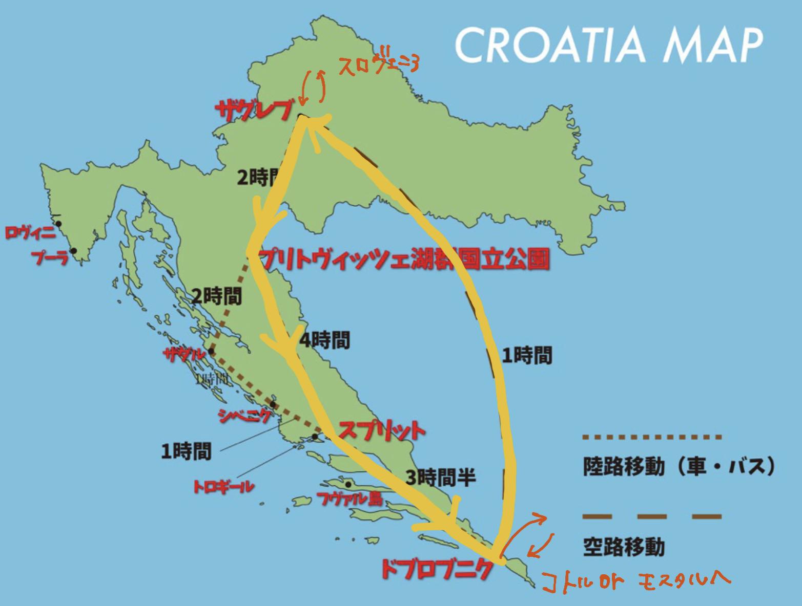 クロアチア新婚旅行 モデルプラン②