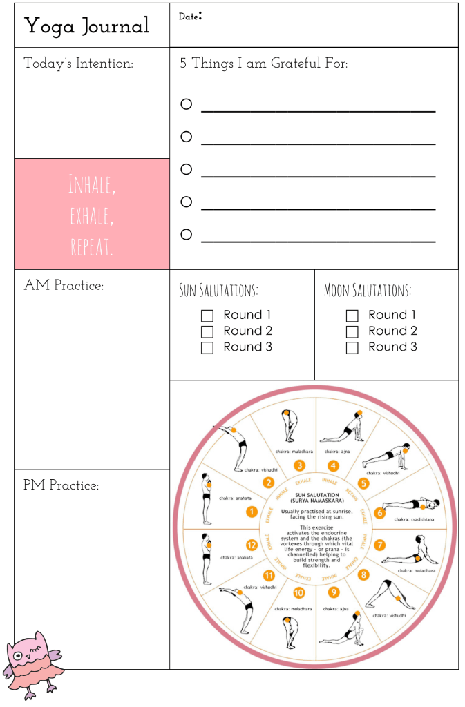 Free Yoga Printable Journal
