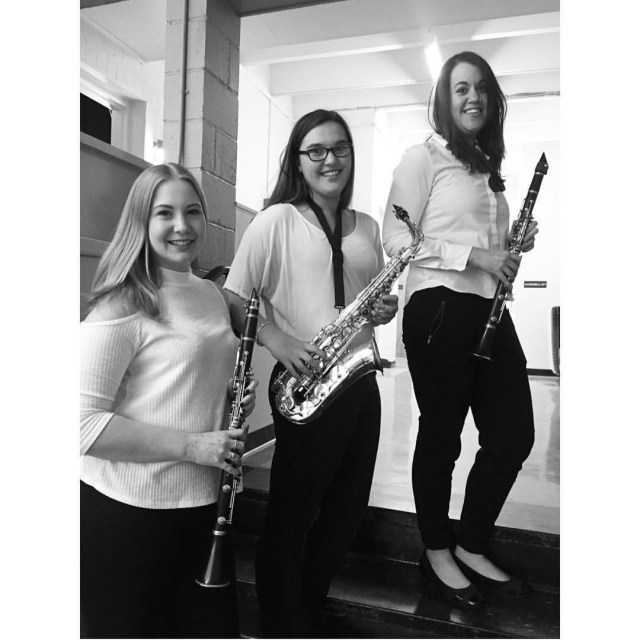 Last concert with my band gals! Stolen from selenabarber bandgeekforlife