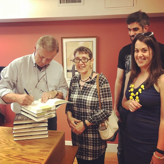 Meeting johngrishamauthor with my mom and Aaron!