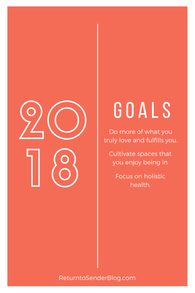 2018 Goals for Sarah from Return to Sender