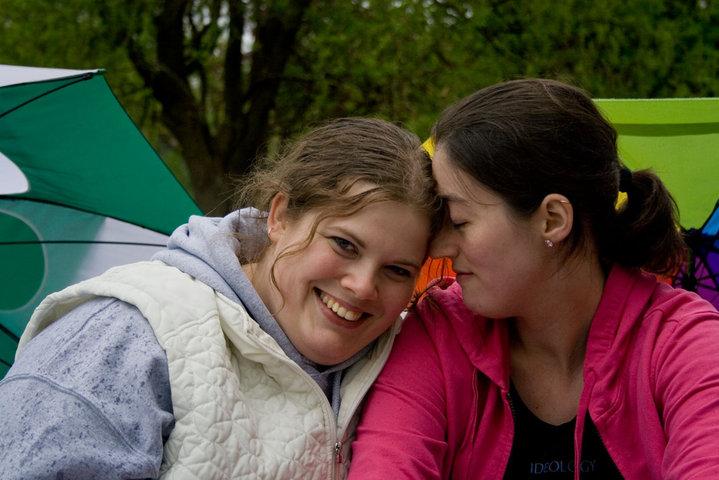 Engagement Photo of two women, Tabitha Chapman and Helena Echandy