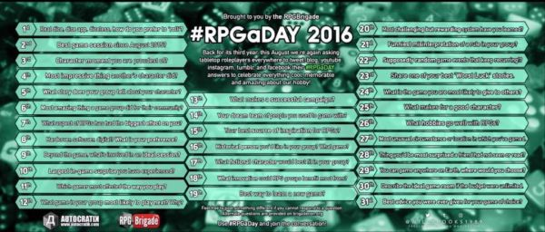 #RPGaDAY 2016