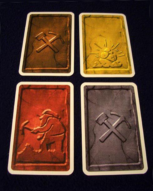 Los cuatro tipos de carta de Saboteur