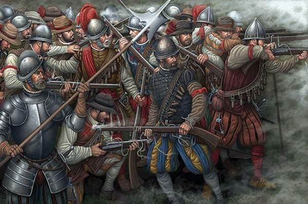 Batalla de Bicoca - arcabuceros