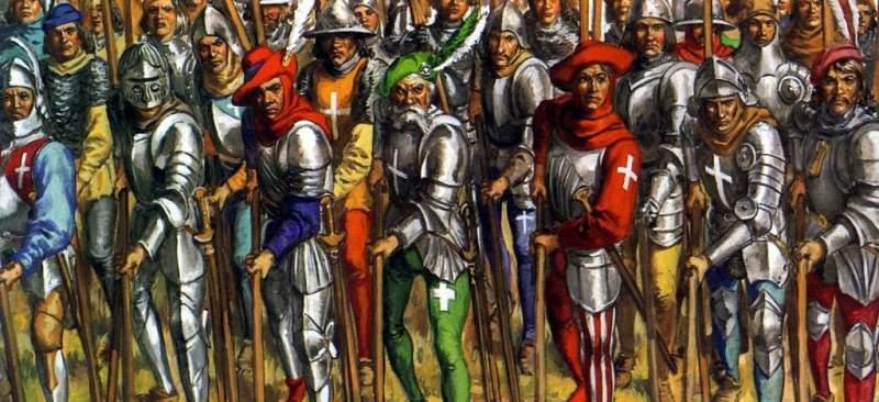 Batalla de Bicoca - piqueros suizos