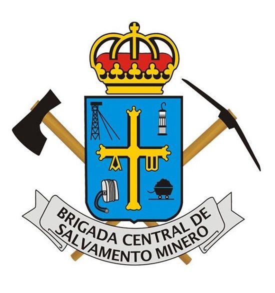 Logo brigada cenrtal de salvamento minero - héroes