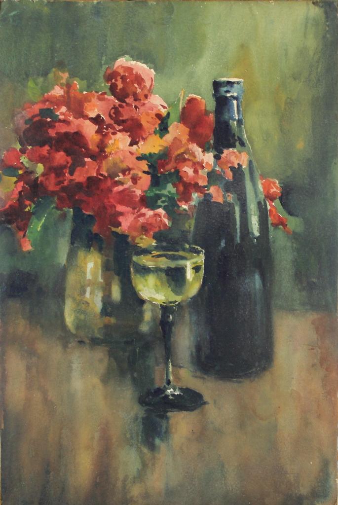 tabgalerie tableau le verre de vin