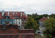 Blick von der Festungsanlage zur Neustadt