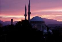 Shkoder: Die restaurierte Moschee im Morgengrauen