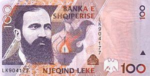 Neuer albanischer 100 Leke-Schein