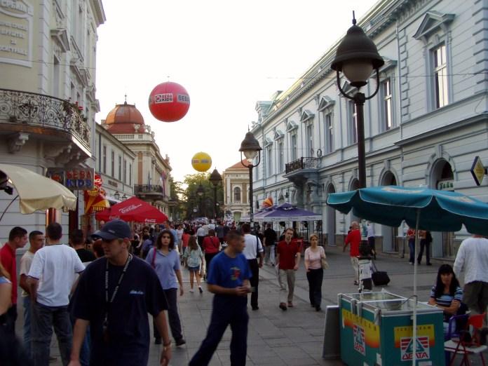 Kontrastprogramm: Die beliebte Fussgängerzone Knez Mihailova