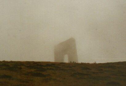 Monument auf dem Trojan-Pass - ein gespenstischer Anblick