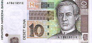 Kroatischer 10-Kuna-Schein