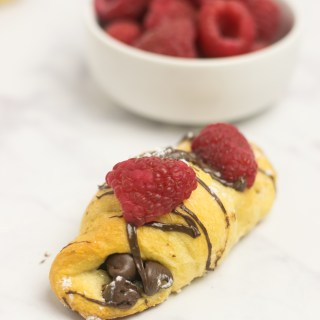 Chocolate Croissants with Raspberries