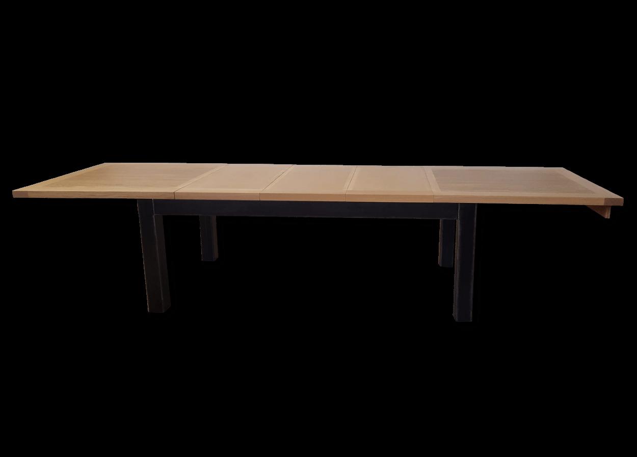 nos tables a allonges en bois massif table a allonges industriel metal bois de chene massif