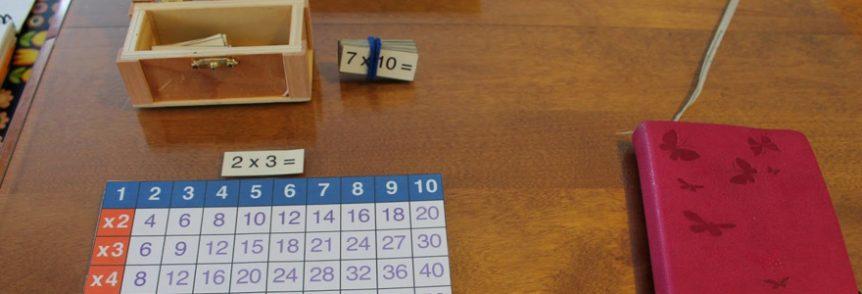 le debut de la table de multiplication