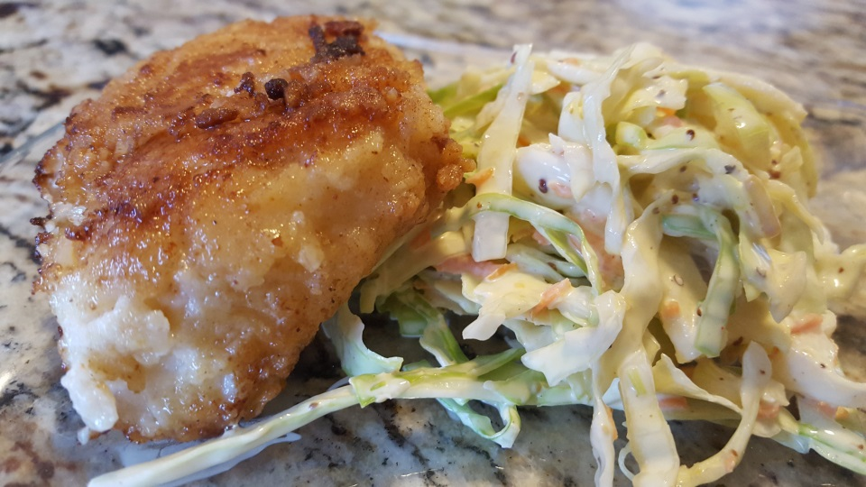 Crispy Fish and Slaw