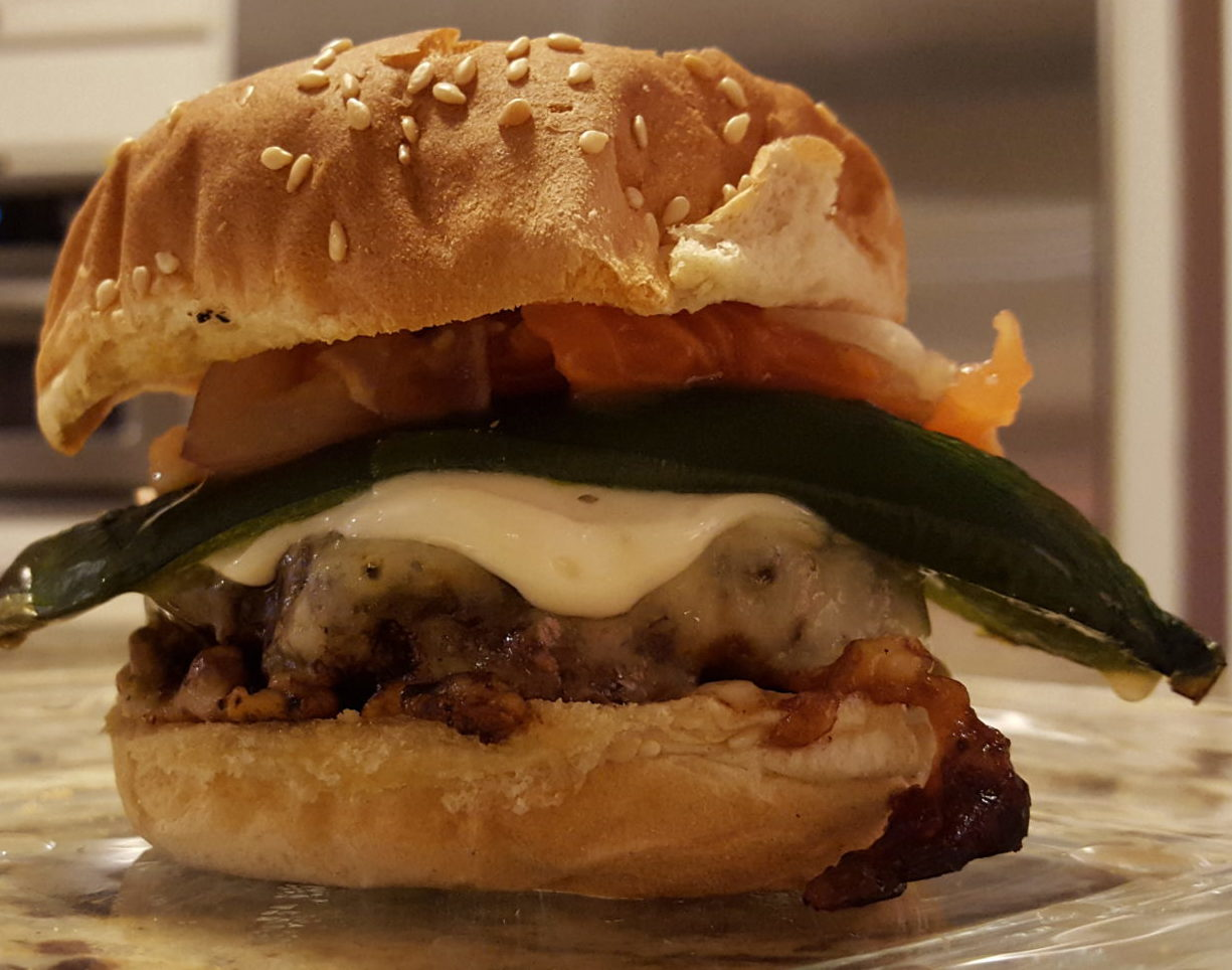 Spicy Poblano Burger