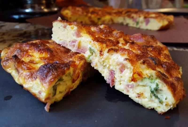 Cheesy Ham and Egg Pie