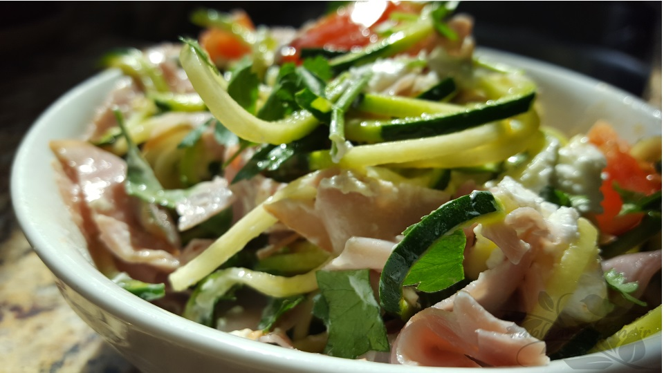 Zucchini and Ham Zoodle Salad