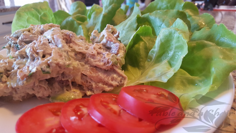 Avocado Ranch Chicken Salad Cups