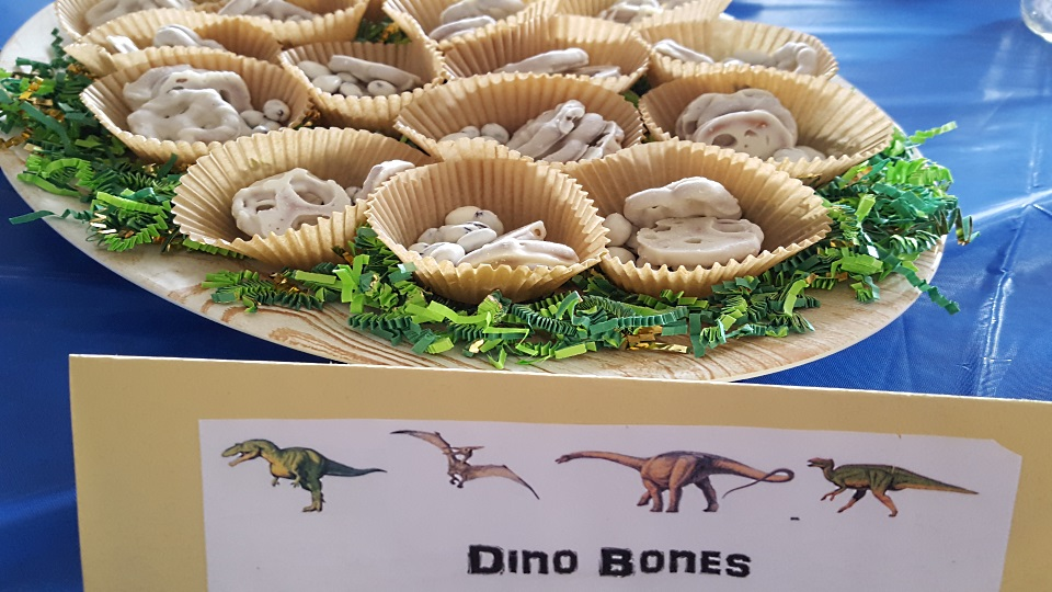 Dinosaur Bones Party Snack Table And A Chair Blog