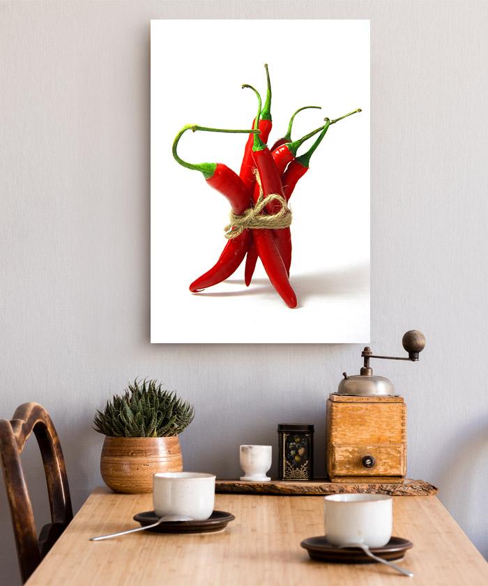 tableau cuisine piments rouges