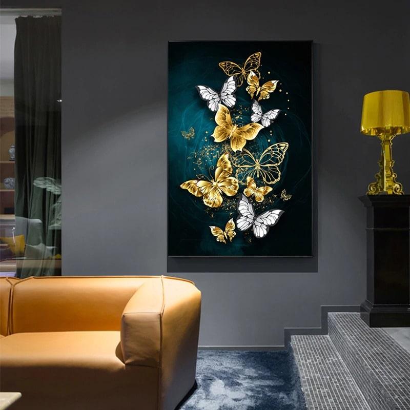 Tableau Decoratif Avec Papillon Style Moderne