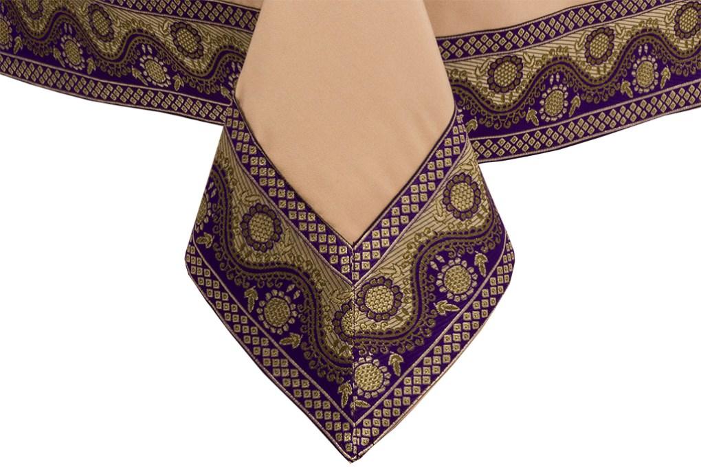Purple and Gold Ribbon Finish