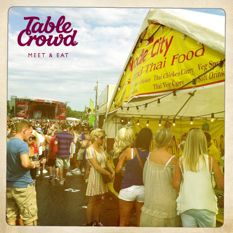 V festival, food, sun