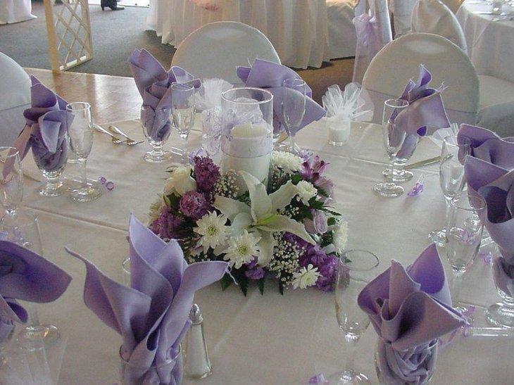trendy purple wedding table decorations