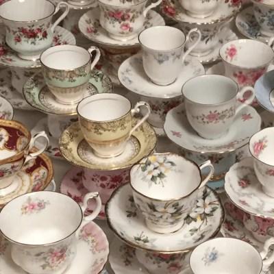 vintage kop en schotels huren Engels Royal Albert