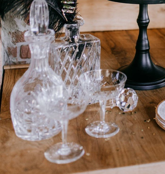 Vintage glaswerk huren