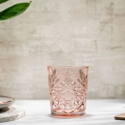 roze whiskey water glas Libbey Hobstar