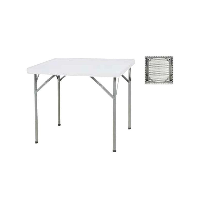 87 x 87 cm table pliante carree en polypro