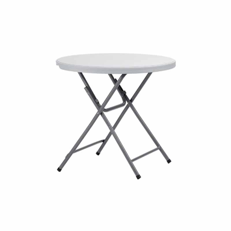petite table blanche polypro ronde