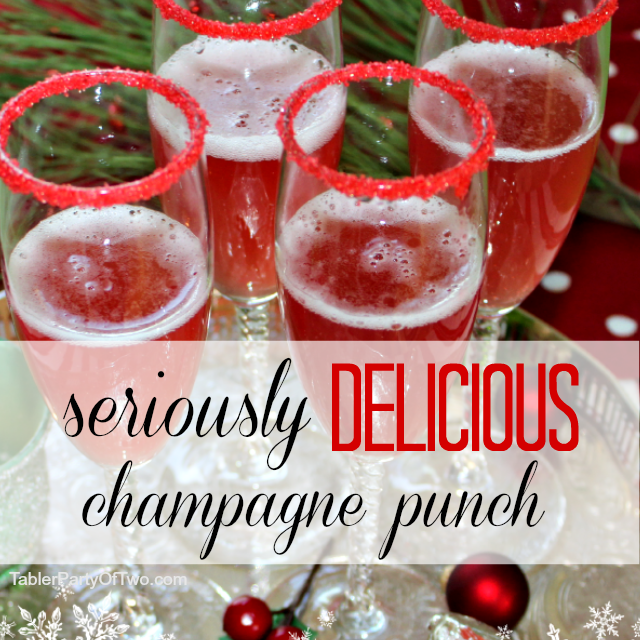 Seriously Delicious Champagne Punch easy to make, beautiful and a ...