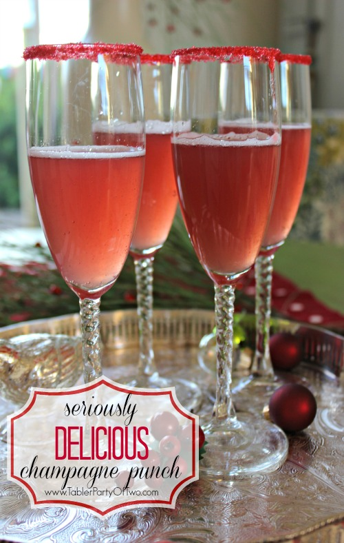 Your guests will LOVE this holiday signature drink! MINE DID! It's so tasty and looks so HOLIDAY!