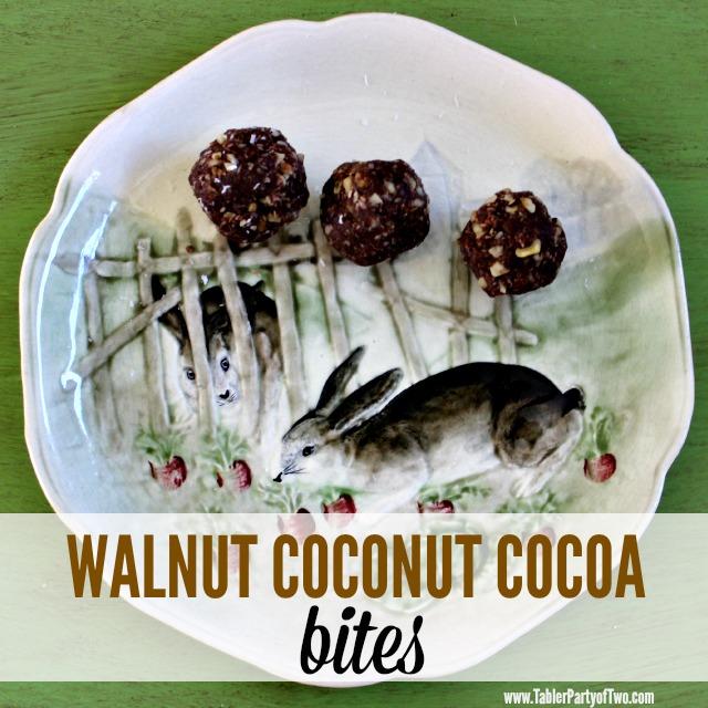 So healthy, delish and PALEO! Walnut coconut cocoa bites are really yum!