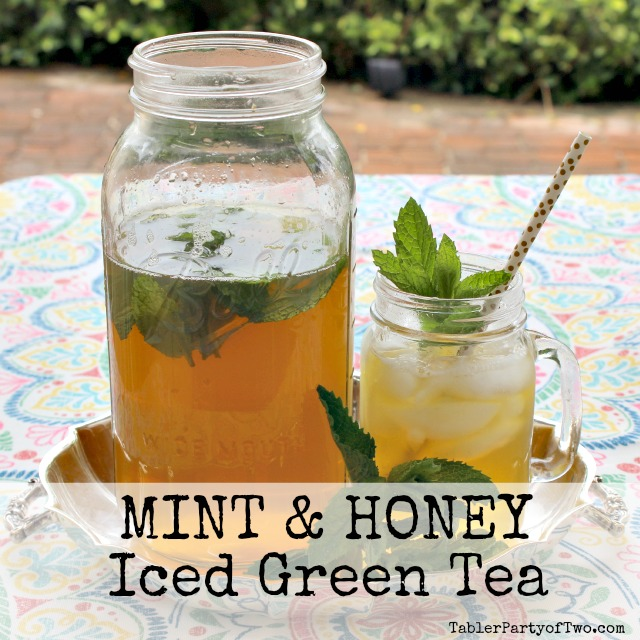 Mint & Honey Iced Green Tea