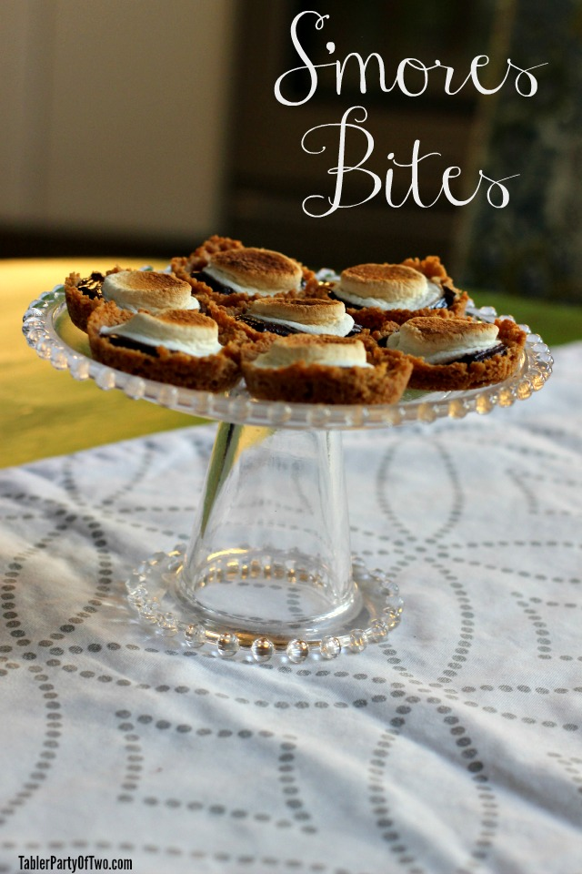 S'mores BItes... OMG are these GOOD! Taste just like s'mores you make with a fire... but so much easier! Very yummy dessert. TablerPartyofTwo.com